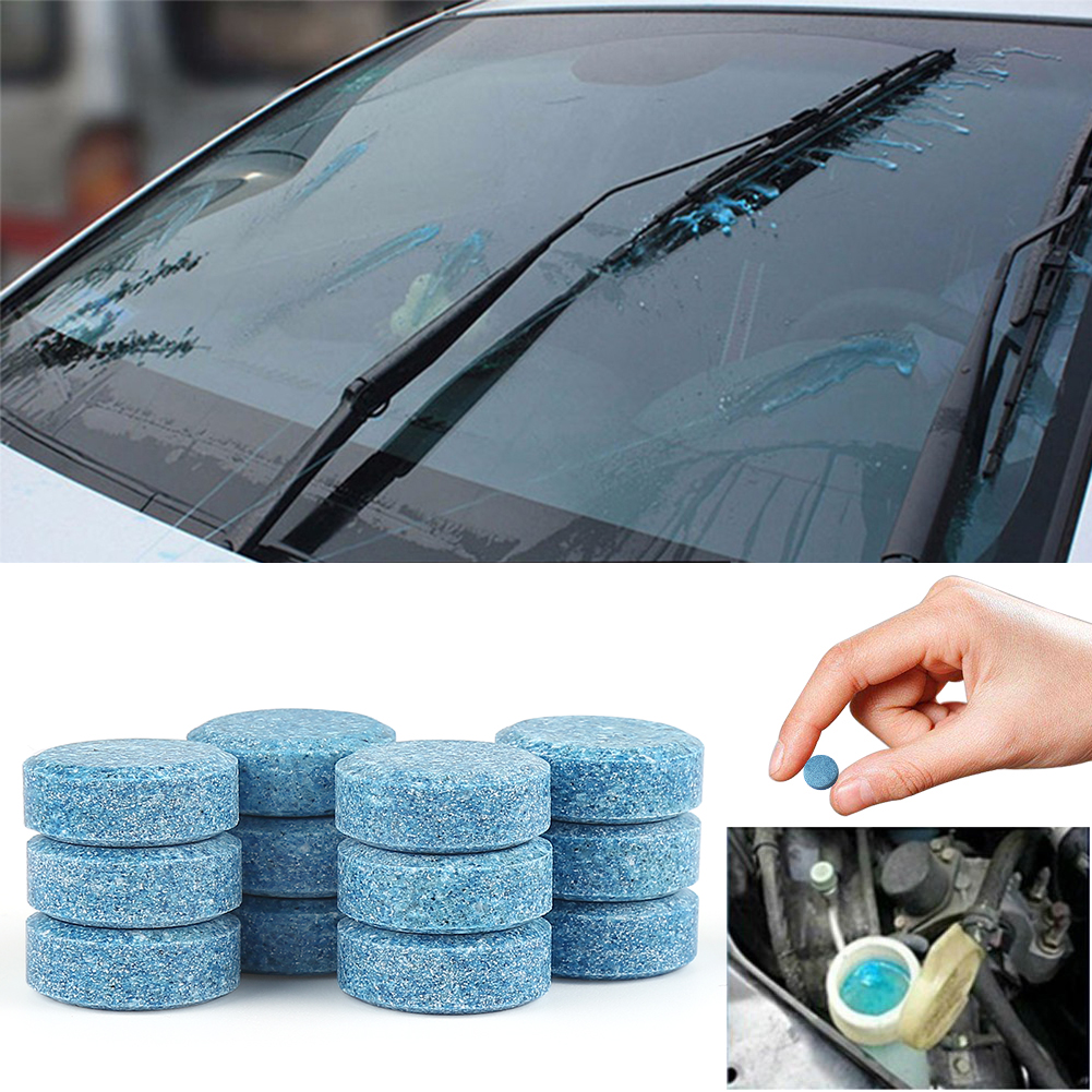 10pcs (1pc=4L Clean Water) Car Windshield Glass Washer Window Cleaner Safe Compact Solid Effervescent Spray Tablets Detergent