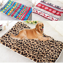 Winter Warm Large Soft Print Flannel Cotton Mattress Dog Cat Pet Mat Bed Pad Self Heating Rug Thermal Washable Pillow(China)