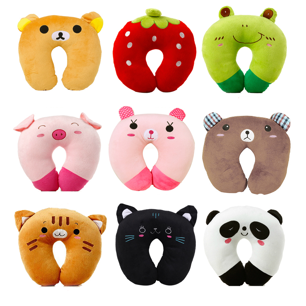 cartoon u shaped pillow neck u pillow plush cervical sleep neck pillow cute airplane travel pillow panda pig tiger black cat