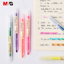 M&G 12 Pcs/set Muji Style Highlighter Pen Japanese Stationery Fluorescent Color Mark Cute Kawaii for school supplies