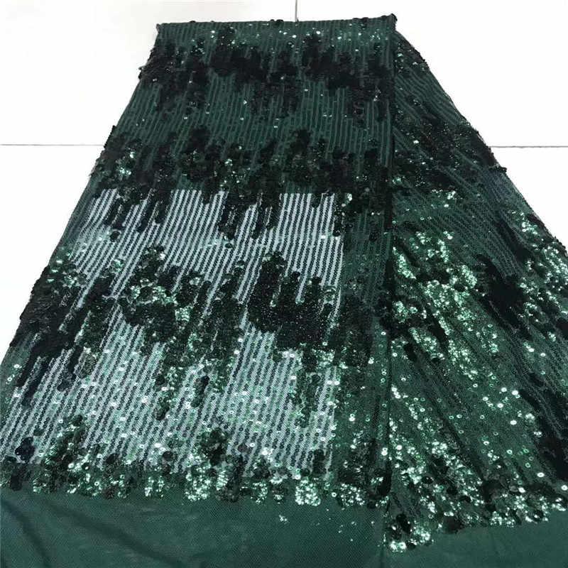 Chất Lượng cao Châu Phi Vải Ren Màu Xanh Đen/Tốt Độ Đàn Hồi Pháp Lưới Thêu Kim Sa Lấp Lánh Voan Phối Ren Cho Váy Cưới