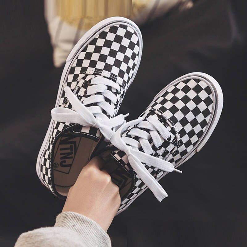 Women Shoes Casual Flat Platform Shoes Women Breathable Plaid Flats Shoes Woman Wedges ladies shoes zapatos de mujer 2019 New