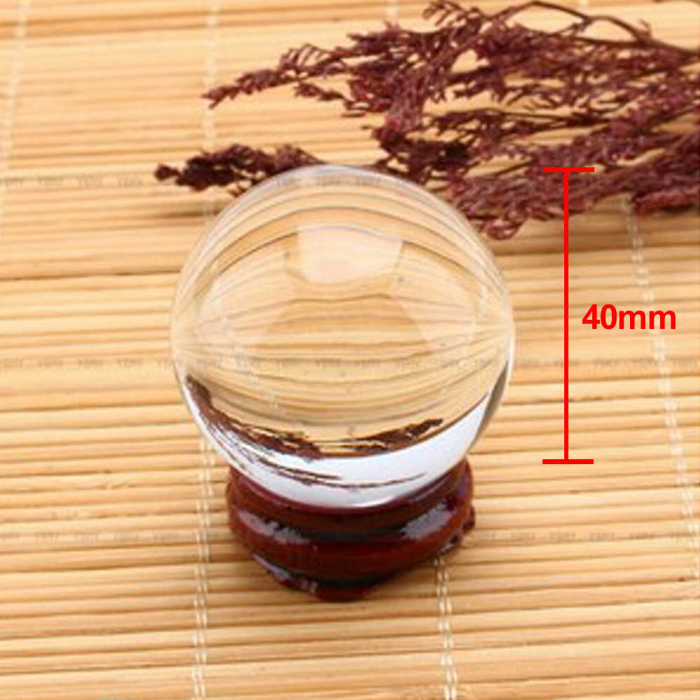 קסם זכוכית כדורי עץ Stand כדור דקור שקוף כדור פנג שואי בית קריסטלים קרפט אסיה ריפוי מדיטציה