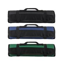 3 цвета на выбор, сумка для шеф-повара, сумка в рулоне, чехол для переноски, сумка для кухни, для приготовления пищи, переносная, прочная, для хранения, 22 кармана, черный, синий, зеленый