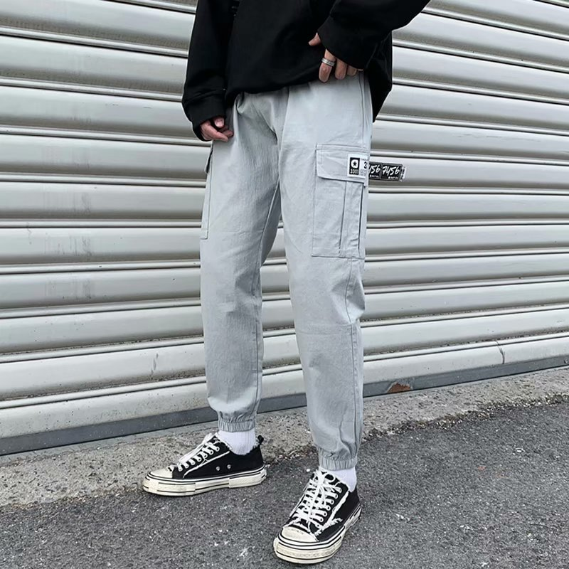 Autumn & Winter Bib Overall Men's Popular Brand Loose-Fit Korean-style Trend 2019 New Style Students Sports Casual Beam Leg Capr