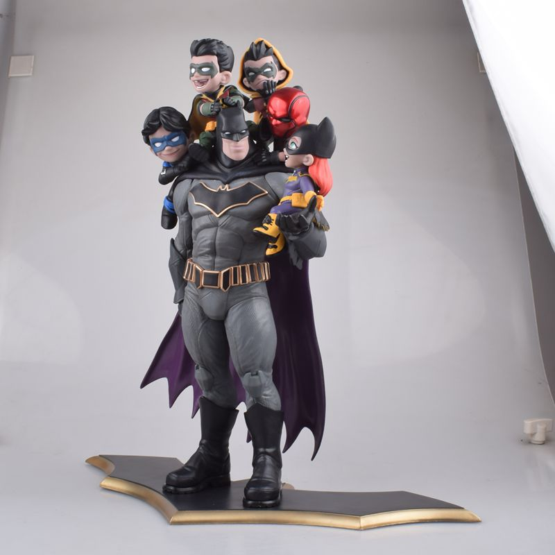 Anime Justice League The Dark Knight Batman Family Batman And Robin PVC Action Figure Collectible Model Superhero Toys Doll 37CM