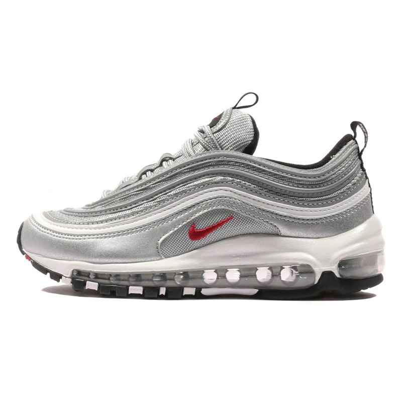 Original Authentic Nike Air Max 97 OG QS Silver Bullet Men's Sneakers Breatheable Running Shoes 885691-001 Sport Shoes Woman