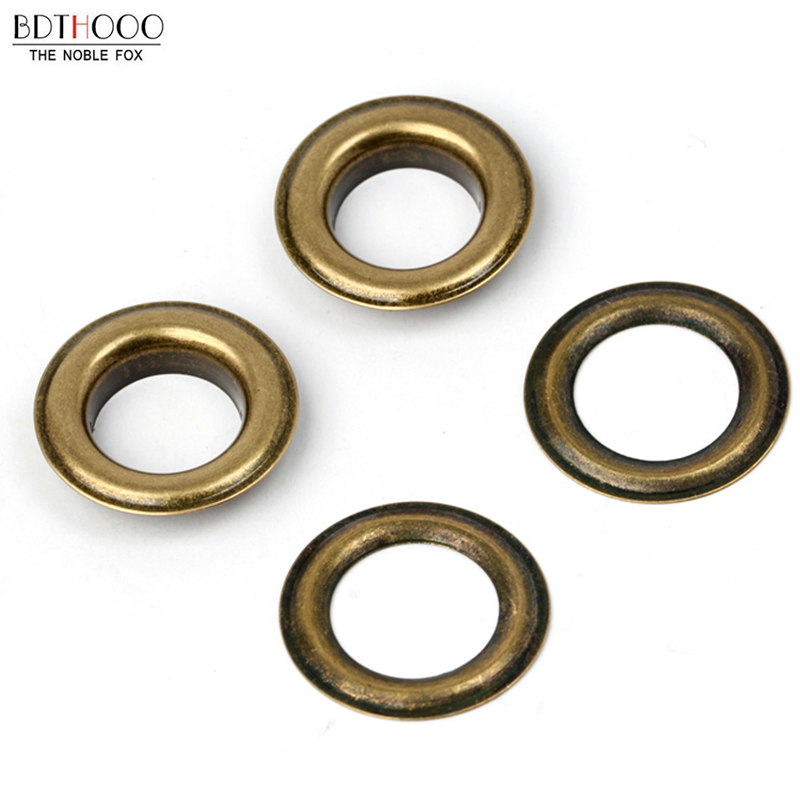 100sets Metal Eyelets With Grommet Dia 12mm For DIY Scrapbooking Cap Leathercraft Shoes Belt Bag Tag Clothes Accessories