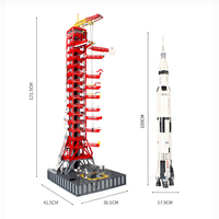 Apollo Saturn V launch umbilical tower compatible with 37003 16014 space shuttle expedition rocket building blocks 21309 10231
