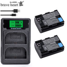 Lp e6 lpe6 LP-E6 e6n LP-E6N bateria + led carregador duplo para canon eos 5ds r 5d mark ii 5d marca iii 6d 7d 80d eos 5ds r câmera