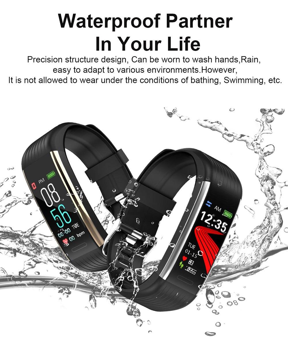 Hc172a23732c048259d2096fe2cf2b866Z 2020 Smart Wristband Fitness Bracelet Blood Pressure Measurement Smart Bracelet Heart Rate Waterproof Pedometer Smart Band Watch