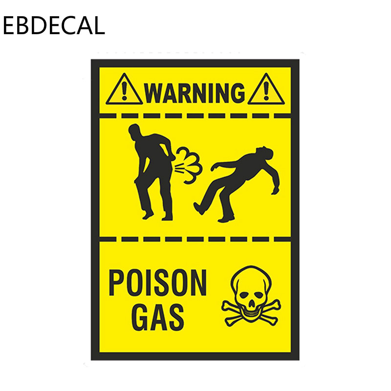 EBdecal Styling Poison Gas Fart  For Auto Car/Bumper/Window/Wall Decal Sticker Decals DIY Decor CT6372