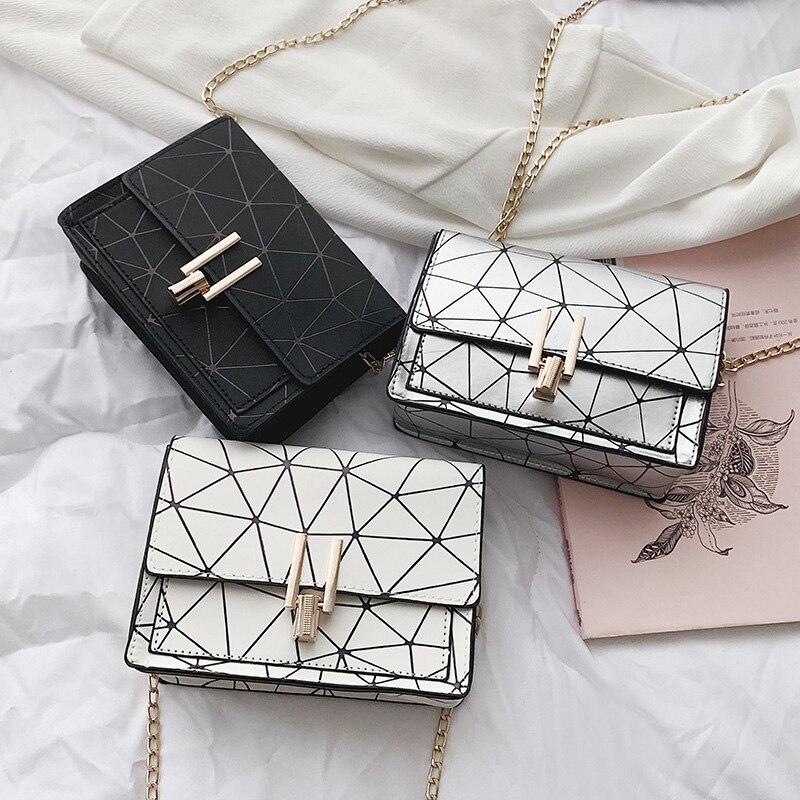 Women Fashion Shoulder Messenger Bags Ladies Geometric Plaid Crossbody Handbag Female Mini Flap Bag New Korean Style Tote SS0425 (1)