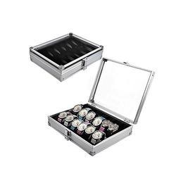 6/12 siatka sloty aluminiowe pudełko na zegarek Case Wrist pudełko na zegarki ekspozytor do biżuterii zegarek Box profesjonalny uchwyt organizator