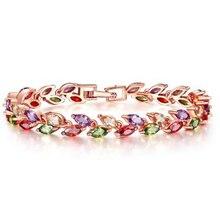 Bettyue pulsera con Zirconia multicolor para mujer, brazalete femenino, joyería encantadora para fiesta de boda