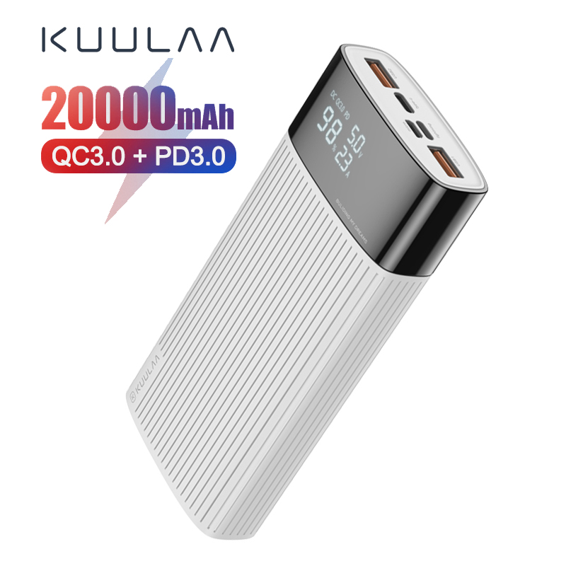 KUULAA 20000mAh Power Bank QC PD 3.0 PoverBank Fast Charging PowerBank 20000 mAh USB External Battery Charger For Xiaomi Mi image