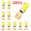 10 шт., керамические светодиодные лампы t10, Автомобильные светодиодные лампы t10, холодный белый свет, 194 Вт, светодиодные габаритные огни 168 cob