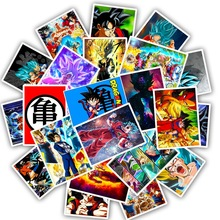 25Pcs Anime Dragon Ball Stickers Super Saiyan Goku Stickers Decal for Snowboard Luggage Car Fridge Laptop Waterproof Sticker