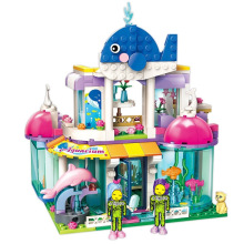 купить ENLIGHTEN Girls City Friends Princess Blue Whale Aquarium Colorful Holidays Building Blocks Sets Kids Toys Compatible по цене 1184.01 рублей