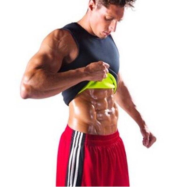 New Plus Size Men Slim Gym Neoprene Vest Body Shaper Sauna Ultra Sweat slimming Corset Shirt 2