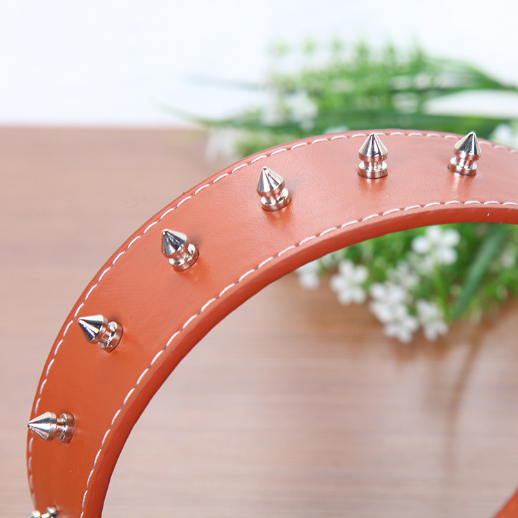 Feng Yuen Pet Supplies Classic 5.0 Cm Rivet Pet Dog Collar