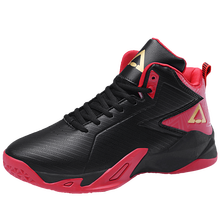 цена на Unisex Non-slip Professional Training Basketball Shoes Men Leather Breathable Sneakers Women High-top Cushioning Sports Shoes