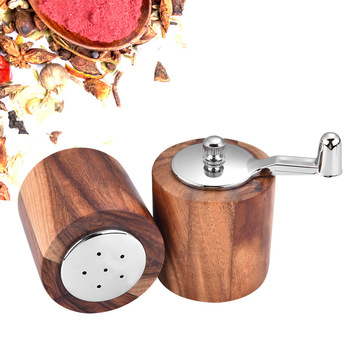 Ręczna młynek do pieprzu z drewna ze stali nierdzewnej solniczka z pieprzniczką młynek do pieprzu młynek wielofunkcyjny sól i młynek do pieprzu młynek do tanie i dobre opinie Credeae CN (pochodzenie) Młyny Sól i pieprz młyny Ekologiczne Zaopatrzony wooden pepper grinder