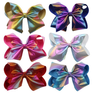 Hair Accessories For Girls Hairclip Baby Girl Kids Bowknot Hairpin Colorful Glitter Hair Clip Accessories Cotton Blends Clips