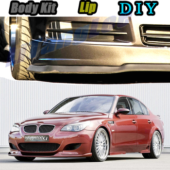 Car Bumper Lip Front Spoiler Skirt Deflector For BMW 5 M5 E28 E34 E39 E60 E61 Tune Car Modified Body Kit VIP Hella Flush Lips image