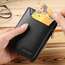 WILLIAMPOLO portefeuille en cuir véritable pour hommes, portefeuille court, portefeuille Standard, PL293, portefeuilles à glissière décontracté