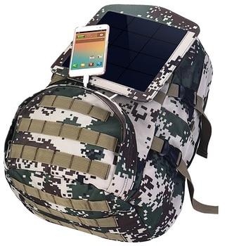 HOWO New Solar Backpacks for Men Large Travel Shoulder Bags Laptop Business Camouflage Sport Rucksack with Detachable Panel 4