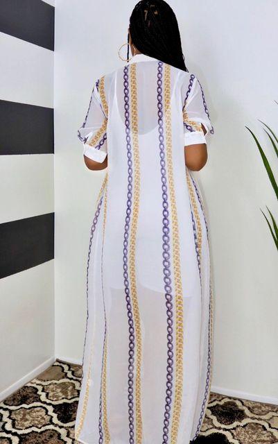 Summer Plus Size Mesh Shirt Maxi Dress For Women Casual See Through Short Sleeve Loose Long Shirt Dresses Women 4