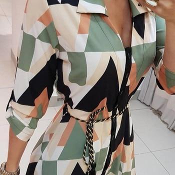 2021 Fashion Women Holiday Style Feminino Print Casual Plus Size Ladies Dress Elegant Day Dress Summer Sexy V-Neck Knitwear Robe 3