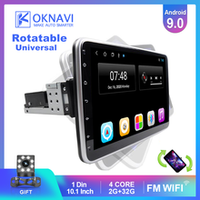 OKNAVI Android 9,0 IPS Touch Screen Drehbare 1 Din Für 360 Grad Universal Auto Radio Stereo Audio Video DVD Multimedia player(China)