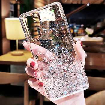 Luxury Glitter Silicone Case For Huawei P20 P30 P40 Pro Lite Transparent Soft Back Case For Huawei P
