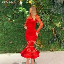 فستان سهرة أحمر  انيق على شكل حورية البحر
