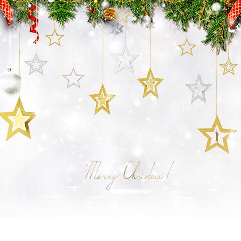 7 шт./компл. пятиконечная звезда рождественские украшения блестящие рождественские украшения Chromophous Рождественская елка кулон украшением