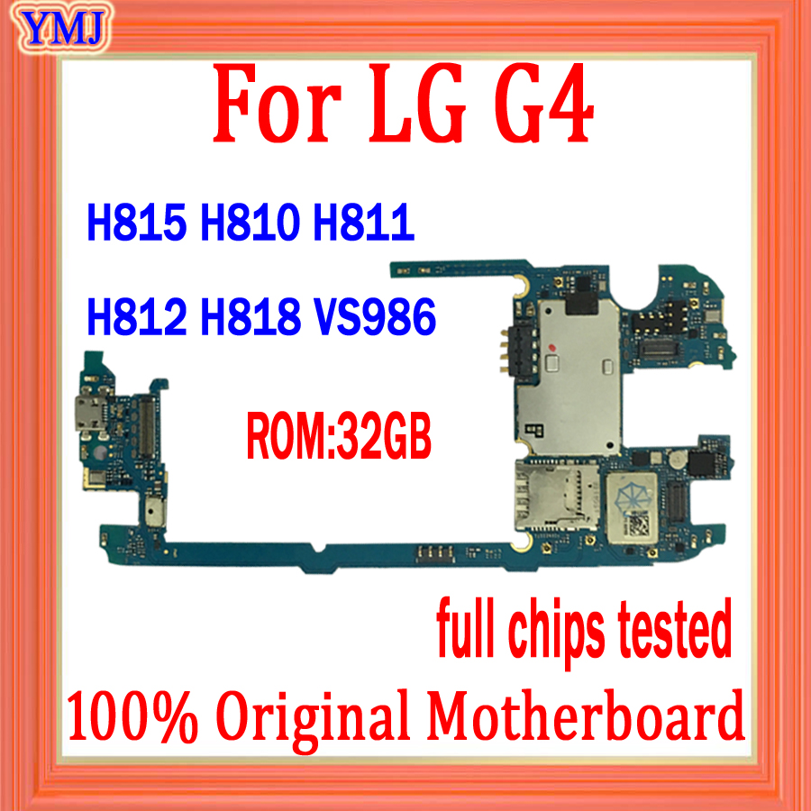 Good Tested for <font><b>LG</b></font> G4 <font><b>H815</b></font> H810 H811 H812 H818 VS986 <font><b>Motherboard</b></font>,Original unlocked for <font><b>LG</b></font> G4 with Android System Logic board image