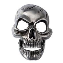 Vintage Skeleton Skull Head Belt Buckle Western Cowboy Mens Accessories