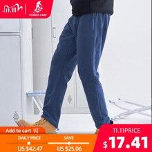 Pioneer Camp US rozmiar polarowe ciepłe spodnie mężczyźni marka odzież jednolity kolor, na jesień zimowe spodnie typu Casual męskie miękkie proste AZZ801372Y