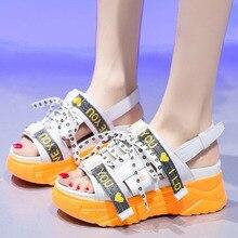 Summer Women's Platform Sandals Fashion Buckle Adjustable Ladies Slippers Summer Breathable Beach Sandals Women Casual Shoes