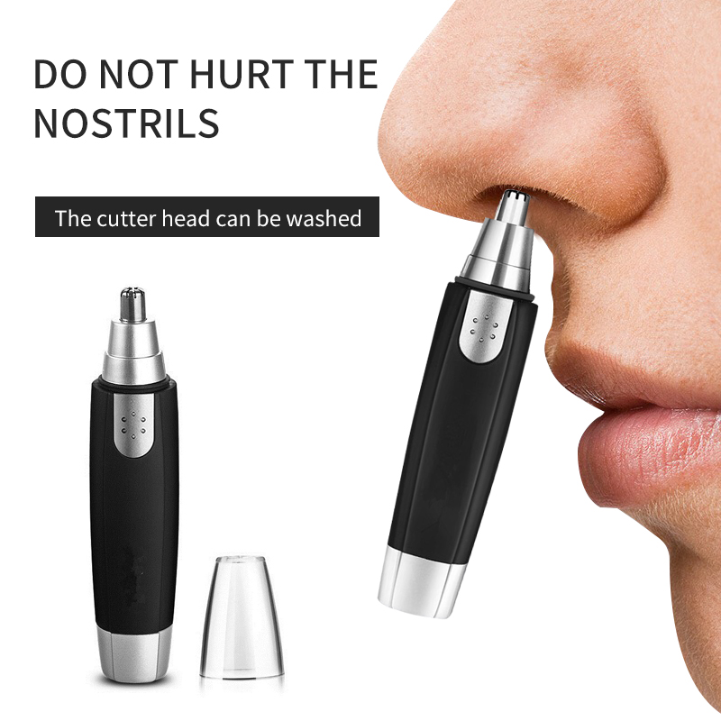 Nose Hair Trimmer Electric Nose Hair Man Shaving Nose Hair Clip Black Ear Nose Hair Clipper Ear Nose Neck Eyebrow Trimmer