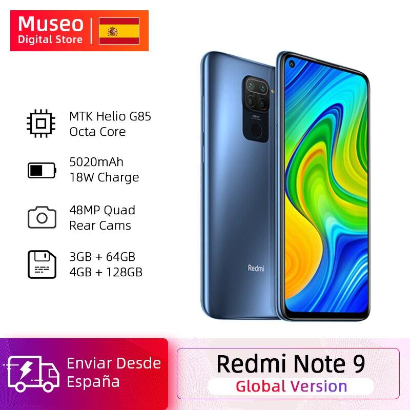 Versão global xiaomi redmi nota 9 4gb 128gb smartphone helio g85 octa núcleo 48mp quad cam traseira 6.53