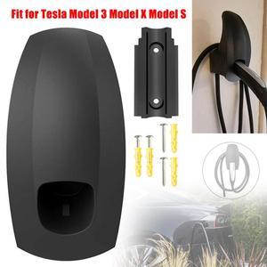 Автомобильный зарядный кабель Органайзер настенное крепление зарядное устройство разъем Органайзер кронштейн держатель адаптер для Tesla м...