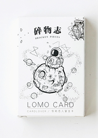 52mm*80mm Broken Pieces Paper Greeting Card Lomo Card(1pack=28pieces)
