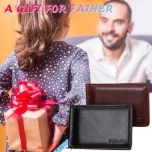Purse Wallet Men Retro Thin Wallet Quality Men #8217 s Business Short Leather Card Case Wallet Кошелек Женский Gift For Father #8217 s Day cheap ISHOWTIENDA Retro Thin Wallet Quality Men s Business Short One-Fold Leather Card C Polyester 10cm Solid Fashion Coin Pocket