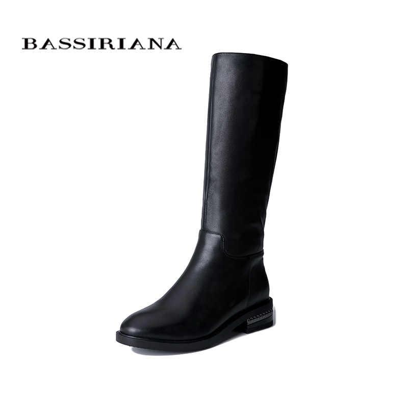 BASSIRIANA 2019 yeni kadın kışlık botlar kauçuk, kaymaz tabanlar rahat sıcak ayakkabı büyük boy