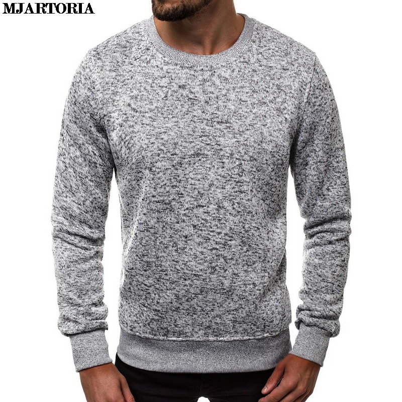 MJARTORIA Soild O-Neck Sweater Men'S Casual Winter Long Sleeve Pullover Fashion Sweatshirt Simple Wild Men'S Clothing Tops New
