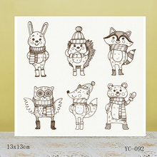AZSG Cute little animals Clear Stamps For DIY Scrapbooking/Card Making/Album Decorative Rubber Stamp Crafts azsg creek in the forest clear stamps for diy scrapbooking card making album decorative rubber stamp crafts