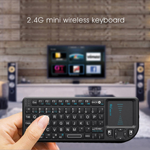 2.4G Mini Keyboard with Touchpad with USB Receiver Portable Wireless Keyboard Controller Remote Control HTPC laptop rastp exhaust control valve set with vacuum actuator cutout 3 0 76mm pipe close style with wireless remote controller rs bov041